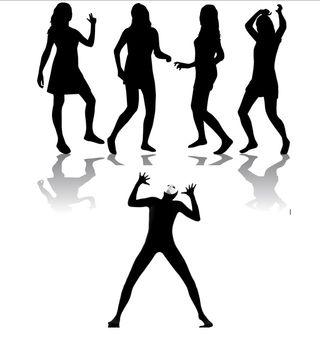 Parent holding up dance floor
