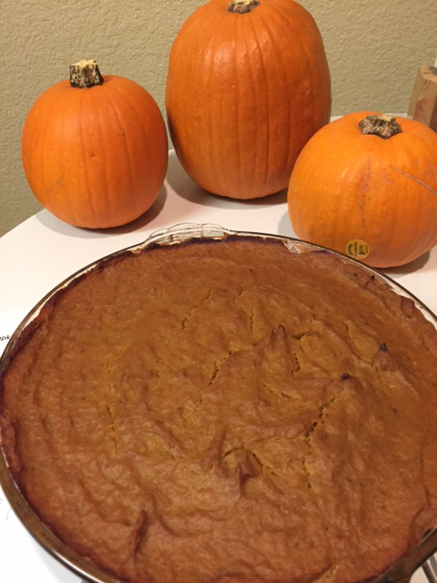 Finished pie w pumpkins