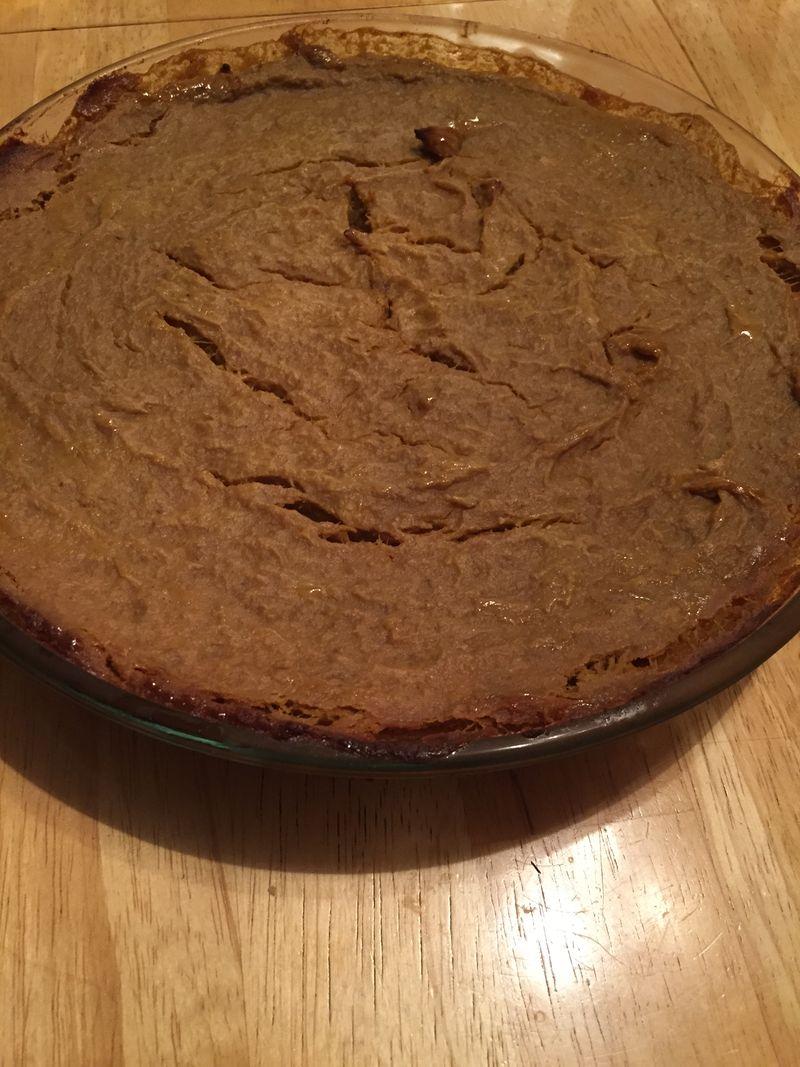 Finished pie plain